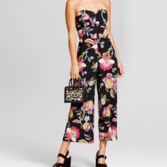 3de105098638 Xhilaration pink floral jumpsuit